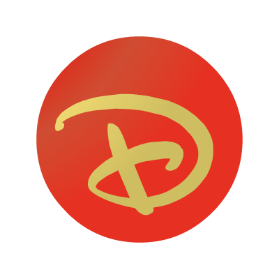 """Disney """"D"""" ball vector logo"""