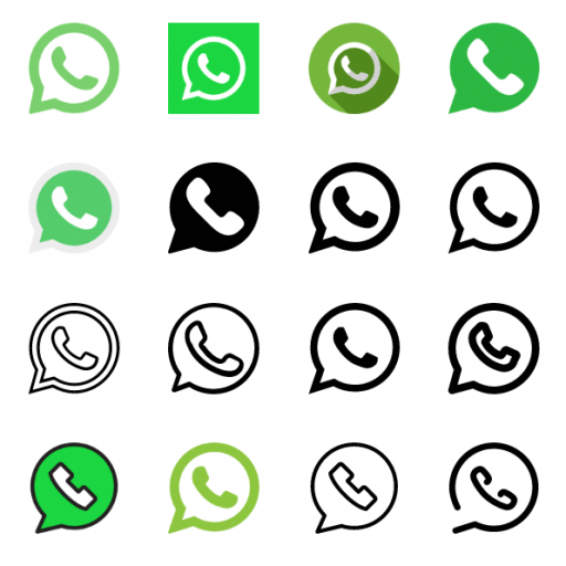WhatsApp icons vector